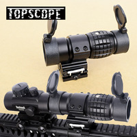 Tactical 3X Magnifier Scope Optics Scopes Riflescope Fits Aimpoint Sight with Flip UP Flip UP Mount Side Picatinny Weaver Rail