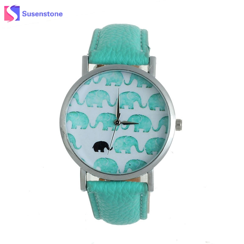 Hot Sale Fashion&Casual Women's Watch Elephant Printed Faux Leather Analog Quartz Dial Clock Ladies Watch relogio feminino fashion leather watches for women analog watches elegant casual major wristwatch clock small dial mini hot sale wholesale