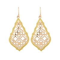 Trendy KS Addie Gold and Rose gold Dangle Earrings Modern Jewelry for Women Wholesale Gift