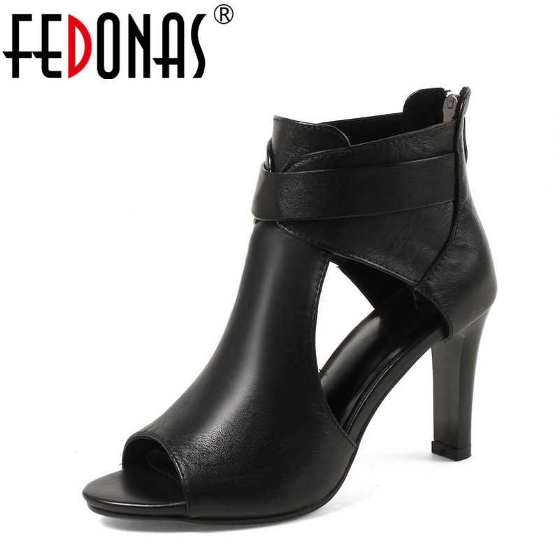 FEDONAS Sexy Women Sandals Thin High Heels 8.5 CM Gladiator Ankle-Wrap Fashion Summer Party Femme Shoes Woman Night Club Sandals цена 2017