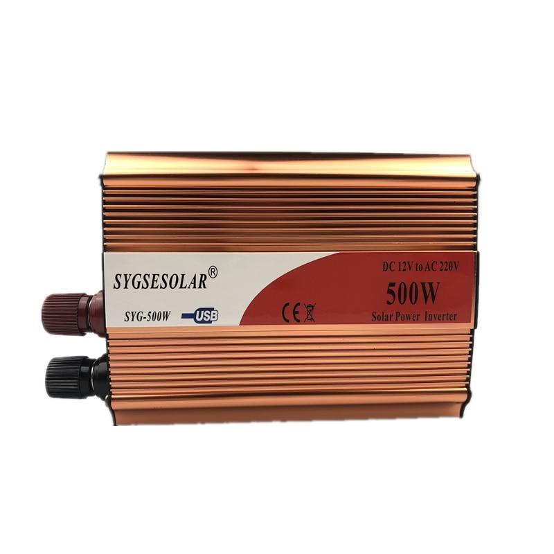 SYGSESOLAR inverter 12v 220v 500w  Car inverter 500W modified sine wave motor converter 12 220 v to 220 v Peak Power 1000W