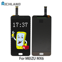 5 5 Highscreen LCD Display For Meizu MX6 LCD Display Touch Screen Panel Digitizer Assembly Replacement