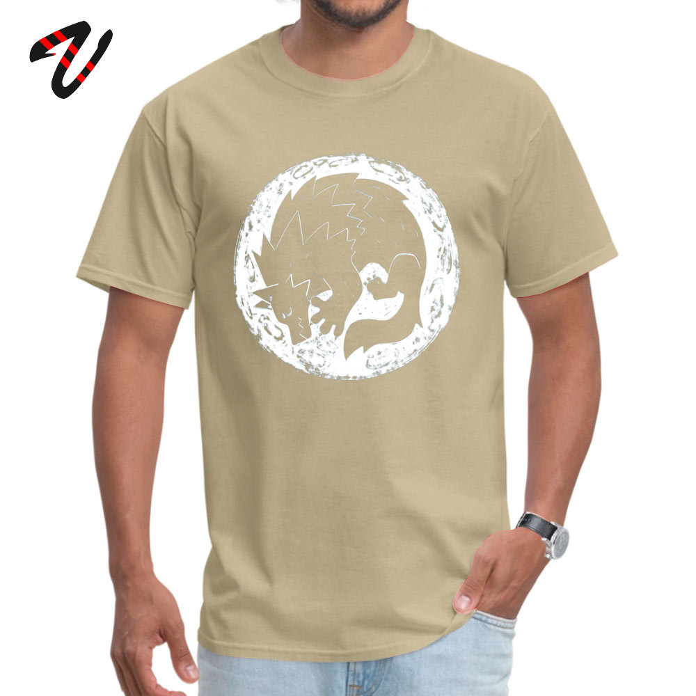 Moon Mouse Apparel Strolling Buffalo Unisex Adult Printed Cotton Crew T Shirt