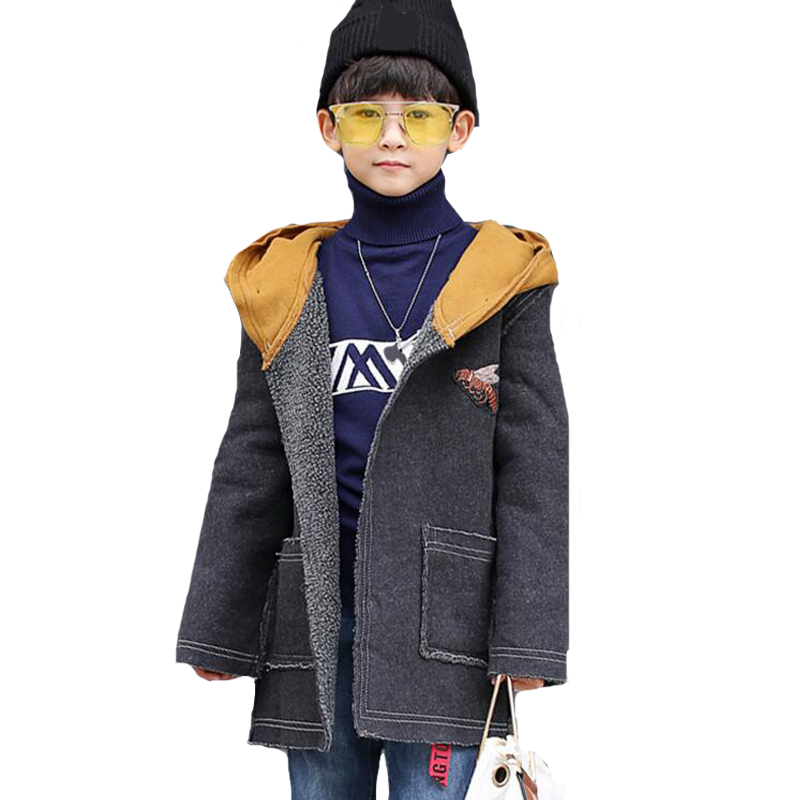 Boys Winter Jackets Cartoon Plus Thick Coats For Boys Costumes Cotton Hooded Outerwear 6 8 9 10 12 Years Spring Autumn Kids Tops casual 2016 winter jacket for boys warm jackets coats outerwears thick hooded down cotton jackets for children boy winter parkas