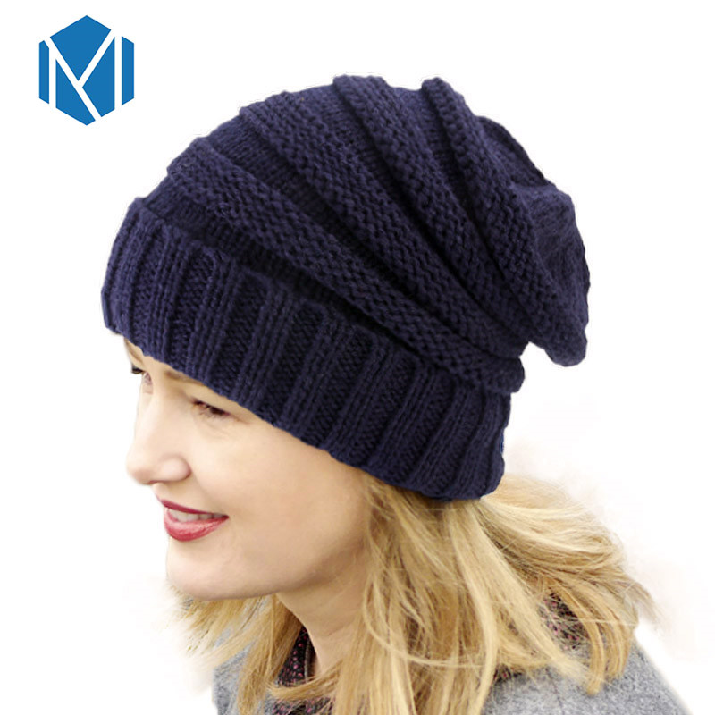 c9f449f612ff8 Winter Hats for Women Stacking Knitted Hat Casual Unisex Solid Color  Knitting Wool Spring Hat Hip ...