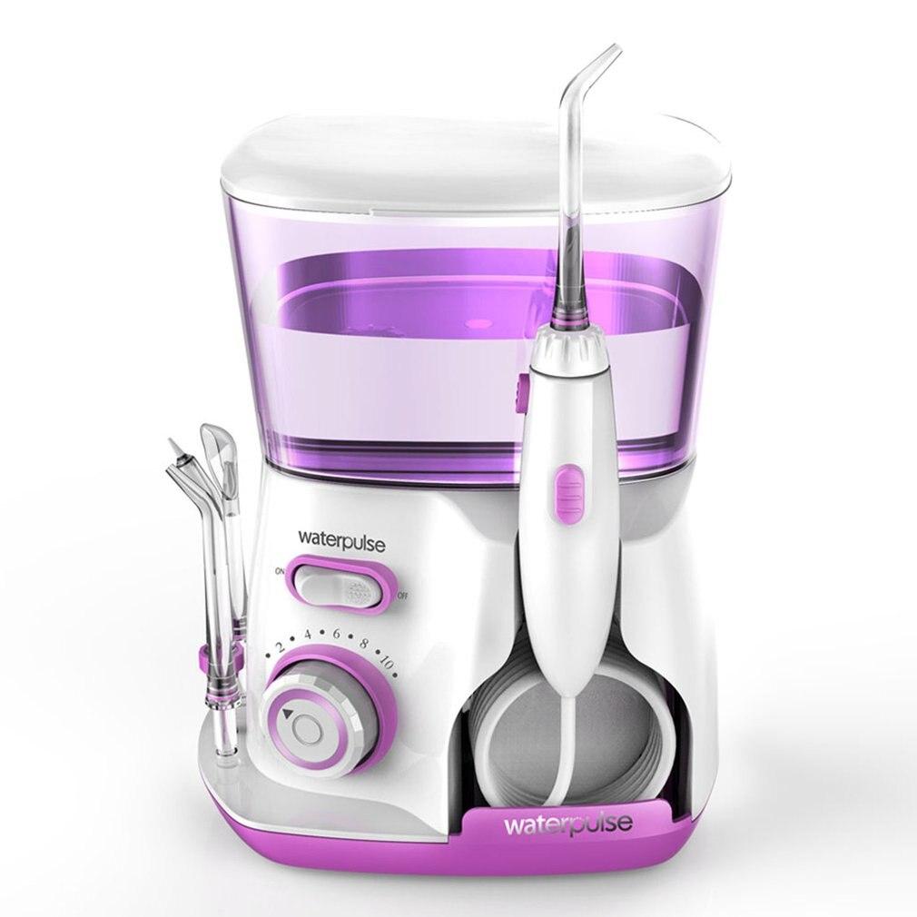 Jacto De Água Irrigador Oral Waterpulse V300G 100-240 v Escolha Dentes Fio Dental Flosser Hidro Conjunto 800 ml Capacidade dentes Branqueamento rosa