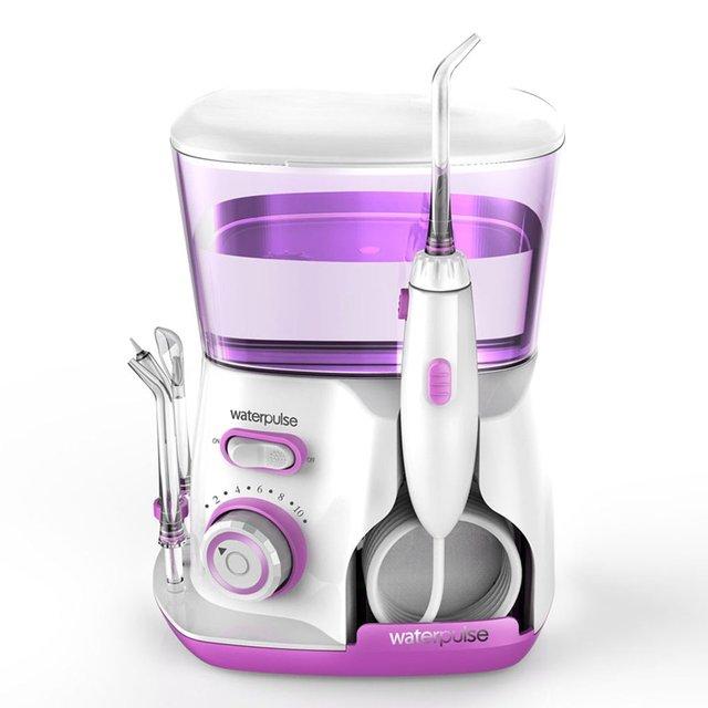 Waterpulse V300G 100-240 V Oral irrigador Jet Pick dientes hilo Dental Flosser Hydro conjunto 800 ml capacidad dientes blanqueamiento rosa