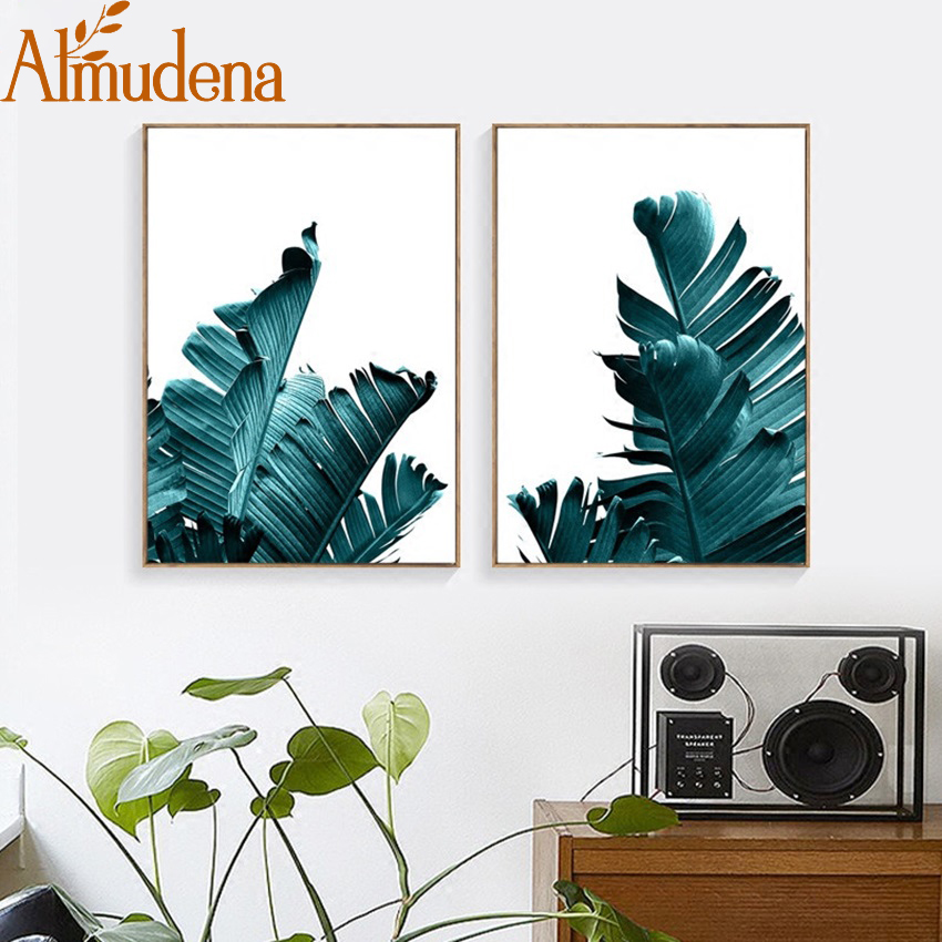 HTB17dc0klfH8KJjy1Xbq6zLdXXa4 Nordic Pineapple Green Leaves Canvas Painting Wall Art Poster Home Decoration Posters And Prints Plant Pictures for Living Room