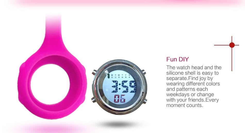 2019 ALK Digital Silicone nurse watch fob pocket watch doctor nurse timepiece brooch lapel Medical Nurse Watch Quartz with Clip 12