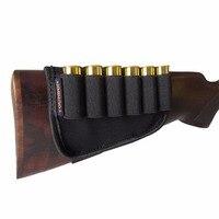 Tourbon Tactical Hunting 6 Ammo Round Shotgun 12 Gauge Shell Buttstock Holder Black Color Hunting Gun