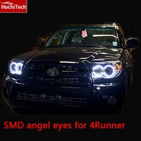 Excellent SMD 5050 LED White Headlight Halo Angel Demon Eyes Kit For Toyota 4Runner 2006 2007