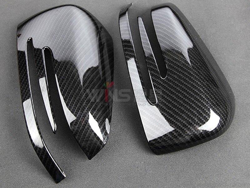 Prix pour Pour Mercedes Benz GLE 2012-2017 Coupé W166 ML Porte En fiber de Carbone Couverture De Miroir Highlight/Mat Chrome Voiture Styling Accessoire
