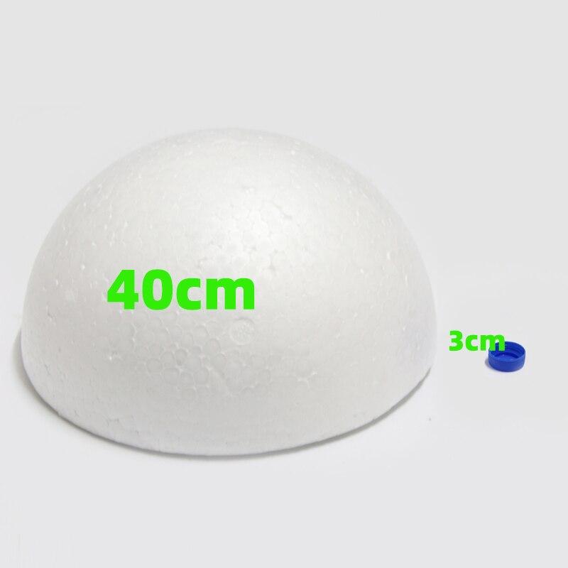 40cm In Diameter White Half Round Solid Polystyrene Styrofoam Foam Ball For Children/kids DIY Handmade Party Wedding Decoration