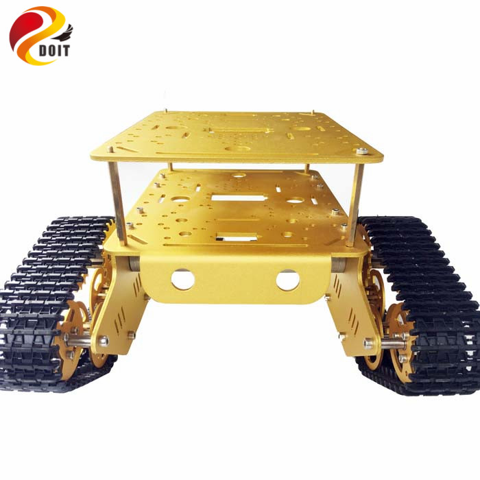 DOIT TD300 Tank Chassis Smart Track Tracked Vehicle with Two Carbon Brush Motor DIY RC Toy Remote Control doit shock absorber metal robot tank car chassis damp damping tracked vehicle track crawler caterpillar for arduino diy rc toy