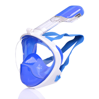 Snorkeling Full Coverage Silicone Waterproof Diving Surface Mirror Dry Nose Respirators Mask Swimming Underwater Breathing