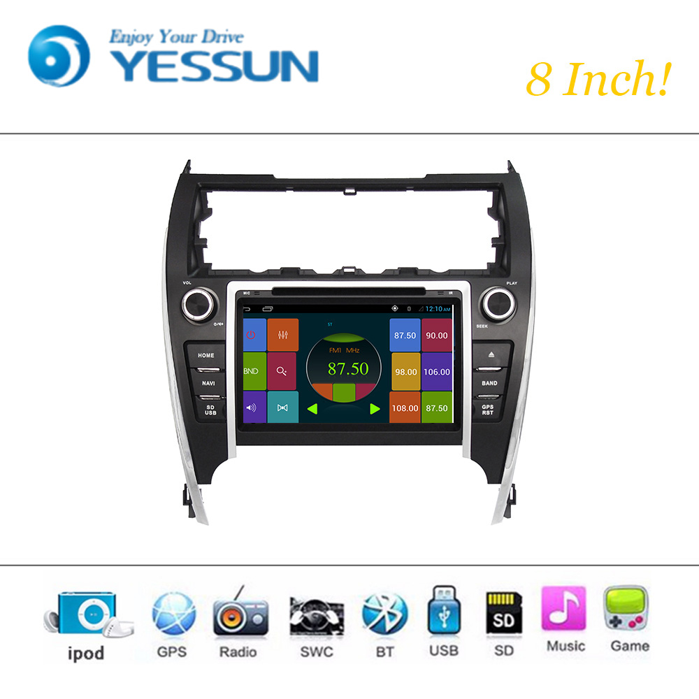 Car DVD Player Wince System For Toyota Camry 2012 2013 2014 U.S.A VERSION Car Radio Stereo GPS Navigation Multimedia Audio Video