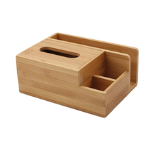 Tissue box bamboo multifunctional simple tray home living room Nordic desktop remote control cosmetic storage