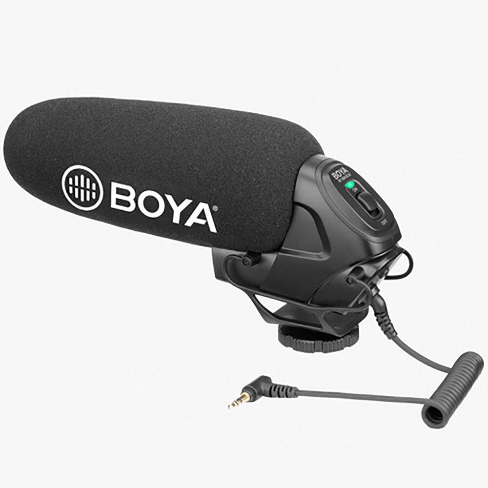 BOYA BM3030 Microphone à condensateur sur caméra micro filaire 3.5mm enregistrement Studio voix pour Canon Youtube Microphone professionnel