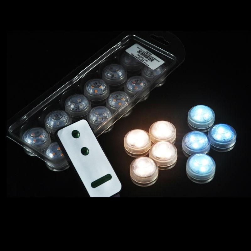 10 pcs Dekorasi Pernikahan Tahan Air Submersible LED Party Tea Mini Light dengan Baterai untuk Halloween Natal