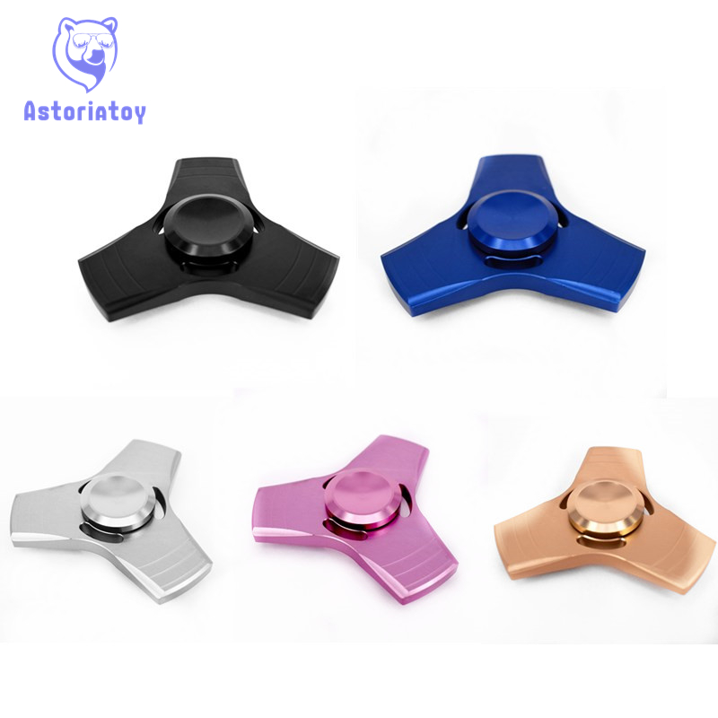 5 colour EDC handspinner Toy angular Hand Spinner aluminum /Torqbar copper Material Professional Finger gyro For Autism