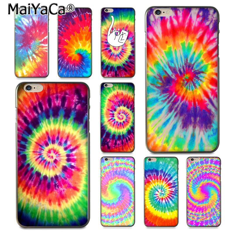 MaiYaCa Silicone case Tie Dye Pattern Batic Rainbow Retro Ink Novelty Fundas phone case Cover For case  6 6plus 7 7plus gis chino para chinches