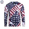 Mr.1991INC USA Flag Printed Shirts Men 3d Shirts Print Striped Stars Long Sleeve V-neck Button Tees Shirts
