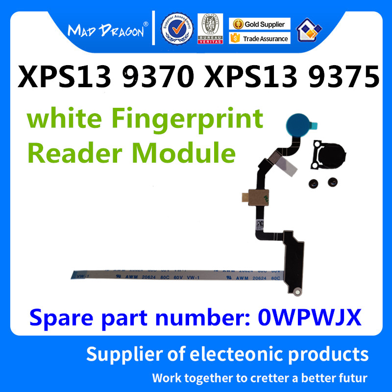 Computer & Office Glorious Mad Dragon Brand Laptop White Power Switch Botton Fingerprint Reader Module Support For Dell Xps13 9370 Xps13 9375 0wpwjx Wpwjx To Clear Out Annoyance And Quench Thirst
