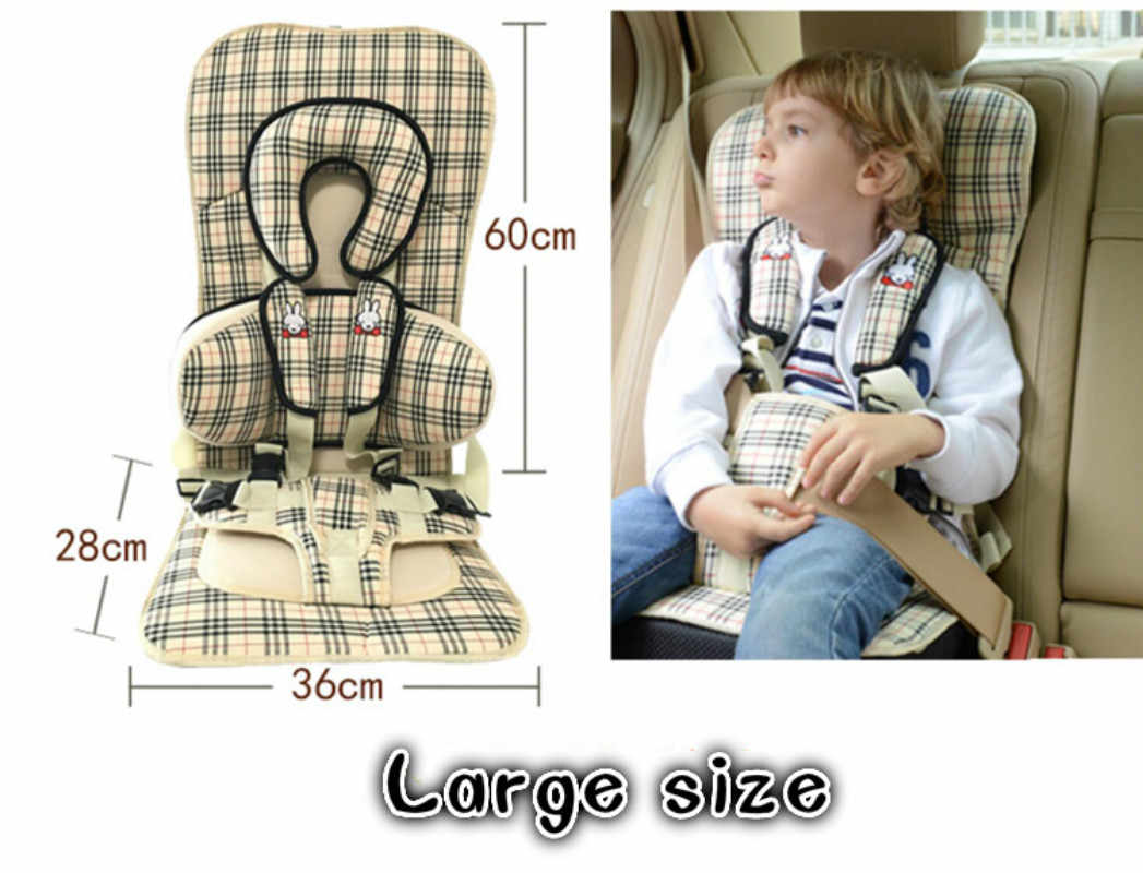 Portable Child Car Seat Cushion Increased Pad Infant Safe Seat Thickening Sponge Kids Car Seats Baby Safety Seat For Boys Girls