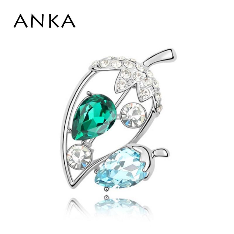 ANKA Women Real Broches Brooch Wedding Dress Hijab Main Stone Crystals from Austria #85626