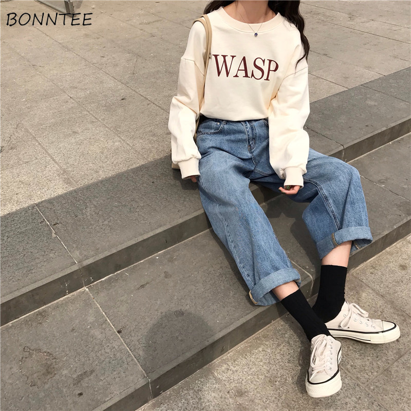 Jeans Women Spring Summer Trendy Korean Style All-match Simple Cuffs Vintage High Quality Streetwear Loose Womens Trousers Chic