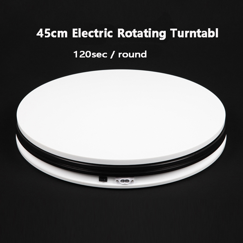 FALCONEYES 14 45cm 360 Degree Electric Rotating Turntable for Photography Display ,Max Load 40kg merchandise display base 360 degree electric rotating turntable for photography 15cm automatic revolving platform