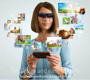 Image 5 - Nowe okulary wideo FPV 3D 2 metry odległość 98 cali wirtualny wyświetlacz duży ekran obsługujący wejście IOS i Android HD 1080P