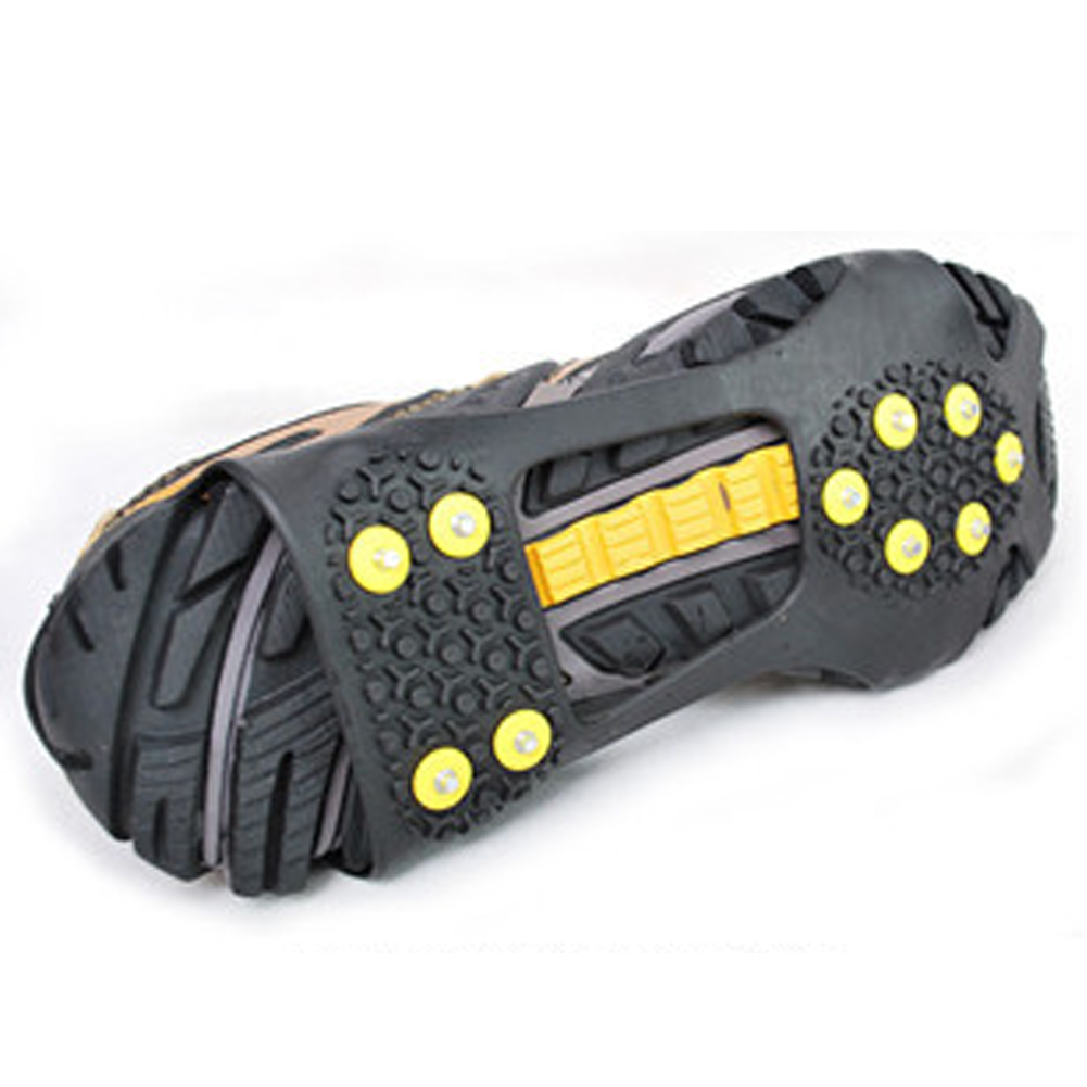 10pcs Mountaineering Climbing Essential Crampon Spikes Shoes Anti Slip Ice Gripper With Crampon Walk On Ice Anow ~