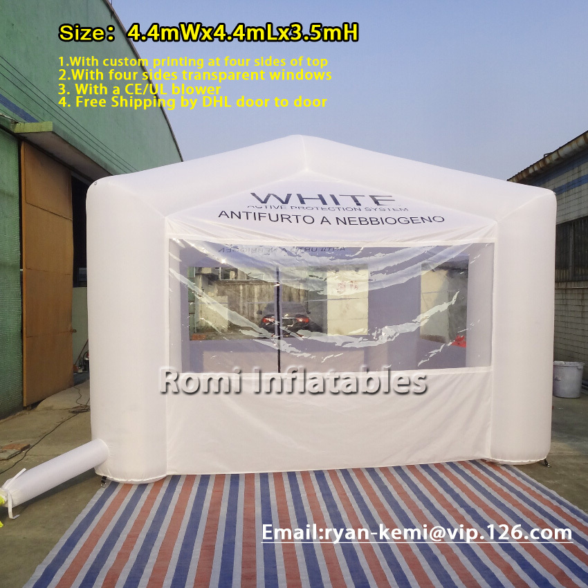 Free shipping inflatable tent with transparent windows white inflatable Pagoda four legs exhibition tent advertising tent free shipping inflatable garage tent inflatable building storage inflatable car exhibition display advertising tent