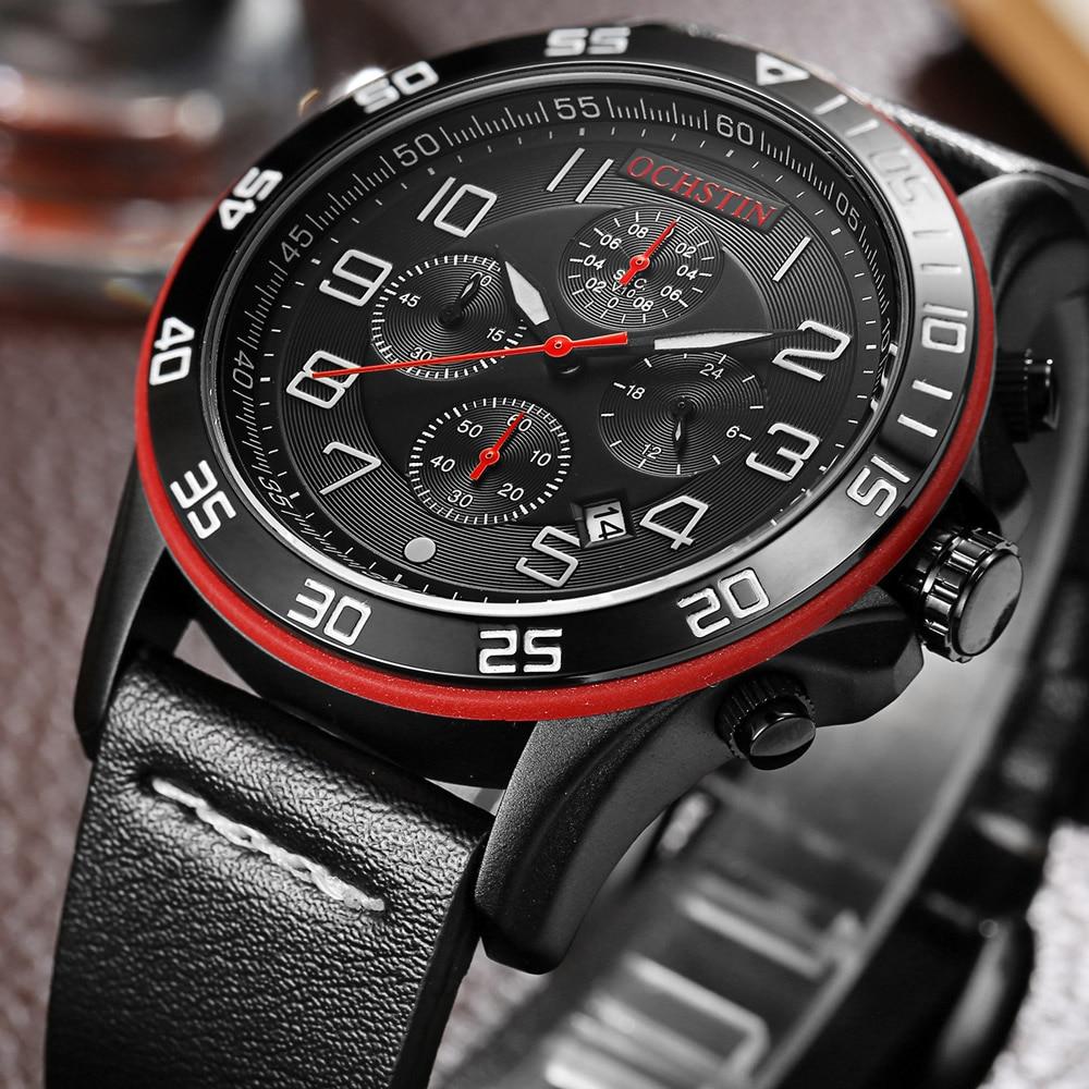 OCHSTIN 2018 Marca de Lujo 7 Manos Reloj Cronógrafo Hombres Moda - Relojes para hombres