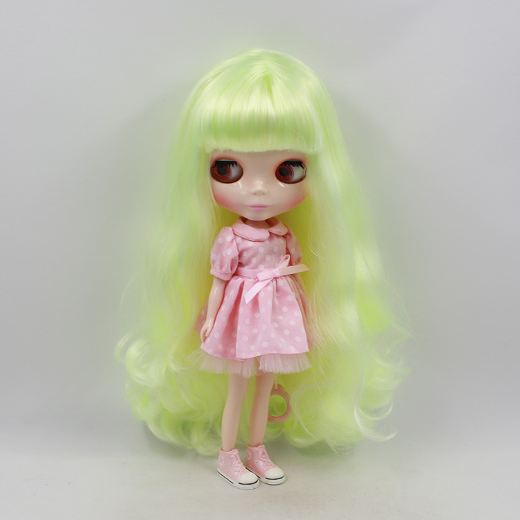 Nude Doll For Series No .260BL400(30m) yellow Long hair white skin Suitable For DIY Change Toy For Girls