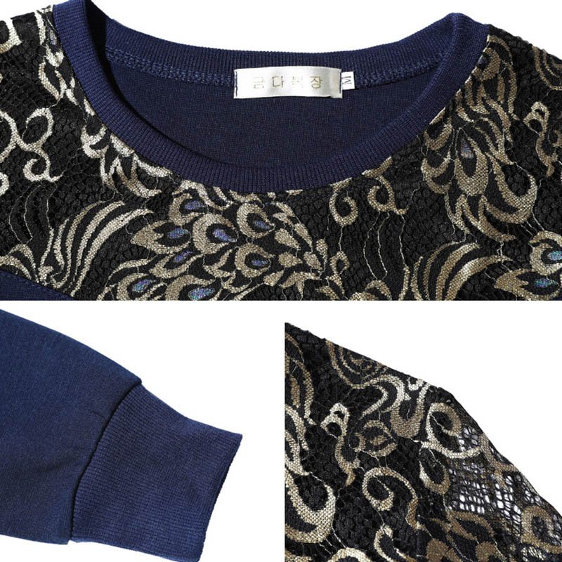 Long Sleeve Tee Shirt Women Splice Cotton Tshirt Femme Loose O Neck T shirt Women Clothes Camisas Femininas Spring Tops Shirt in T Shirts from Women 39 s Clothing