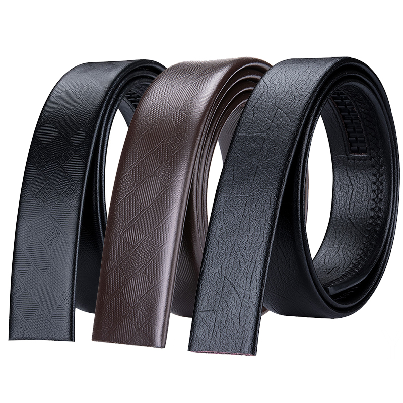 Falari Men/'s Leather Ratchet Belt Strap Without Buckle 35mm Strap ONLY 8003