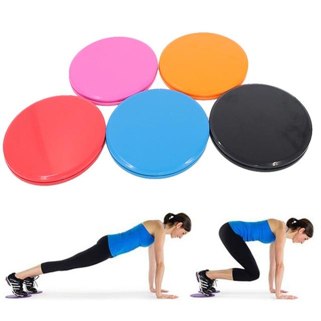 2x Core Gliding Fitness Disc Exercise Abdominal Disc Sliding Plates Workout Legs