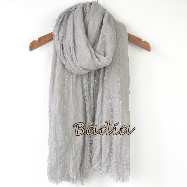 Однотонный Простой Большой рекламный женский шарф, блестящий Блестящий шарф, шаль, большой летний шарф - Цвет: gray