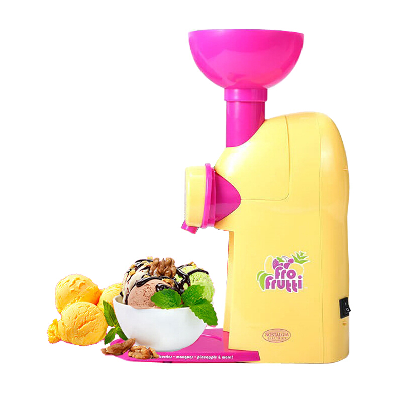 Plastic Material Household Professional Automatic Soft Ice Cream Machine Homemade Fruit Ice Cream One-touch SwitchPlastic Material Household Professional Automatic Soft Ice Cream Machine Homemade Fruit Ice Cream One-touch Switch