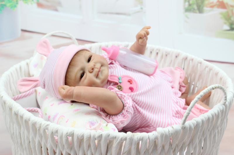 Doll Baby D122 45CM 17inch NPK Doll Bebe Reborn Dolls Girl Lifelike Silicone Reborn Doll Fashion Boy Newborn Reborn Babies warkings reborn