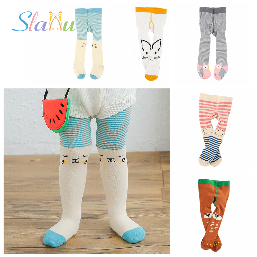 Non-Slip Cute Animal Kids Tights for Baby Girls Boy Tights Cotton Stocking for Children Casual Stockings Toddler Pantyhose 0-3T