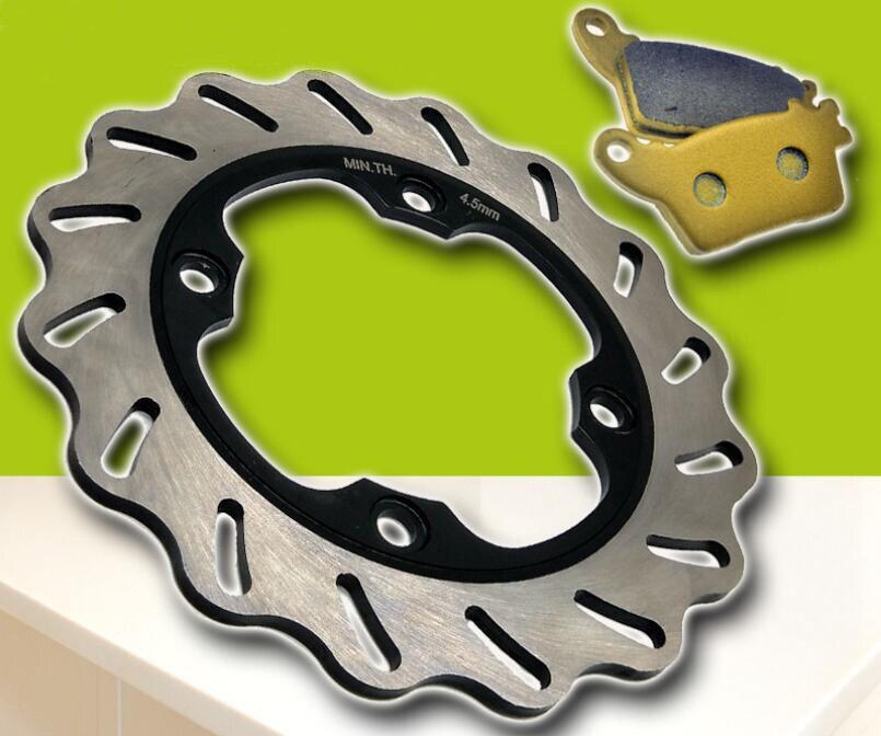 Motorcycle modified rear brake pad + rear brake disc suitable for Honda CBR600 F5 2007-2015 CBR1000RR 2006-2015 new motorcycle rear brake disc brake disc suitable for yamaha fz600 fzs600 srx600 yx600 yzf600