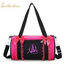 db3ea549881f Балетки сумка для девочки розовый вышитые Сумки для зала рюкзак Cavans  Кружева Роуз балетки сумка для