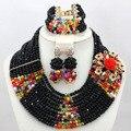 Chunky Negro Multicolor Granos Cristalinos de la Boda Africana Set 2017 WA612 Fiesta de Compromiso Señora Jewelry Set Envío Libre
