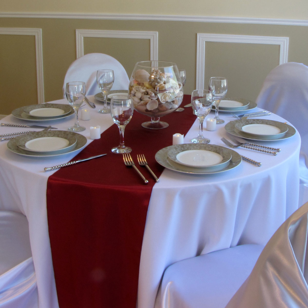 Wedding Table Burgundy Wedding Table Decorations compare prices on burgundy wedding colors online shoppingbuy low free shipping wholesale for 10lot 30cmx 275cm satin table runner decoration 21