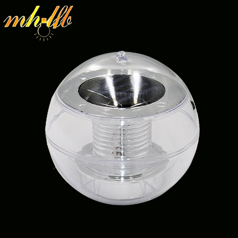 LED Solar Powered Ball Underwater Wall Lamps Night Lights For Garden Pond Path Porch Swimming Pool Floating Outdoor Decoration