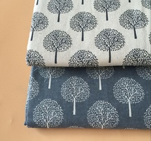 mylb Linen fabric linen printing Nordic style lattice table cloth curtain cloth pillow with cloth Rich tree