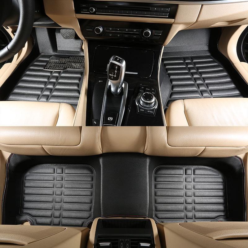 High quality new 2017 OHANNY Special 3D leather Car Floor Mats Case For vw passat b5 6 polo golf tiguan jetta toura foot carpet подлокотники в авто brand new vw passat b5 jetta
